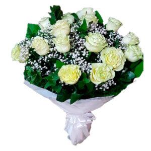 rosas blancas en Bogota