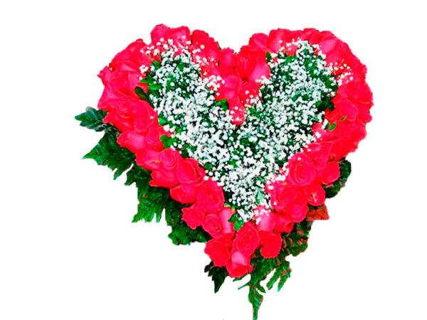 corazón en flores bogota