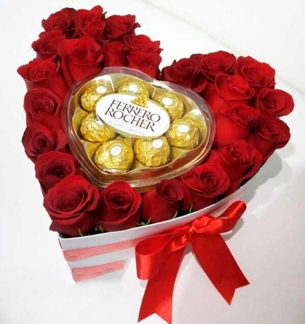 Rosas y chocolates en Sopo