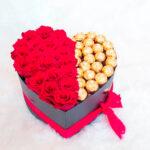 Rosas y chocolates en cajica